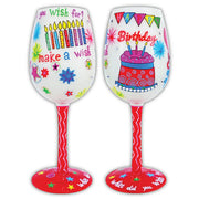 Birthday Make a Wish Wineglass