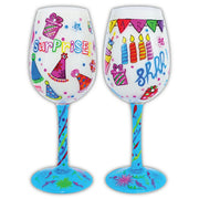 Birthday Party Surprise Wineglass