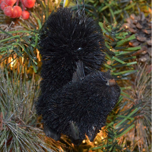 Squirrel Black Bristle Brush Ornament