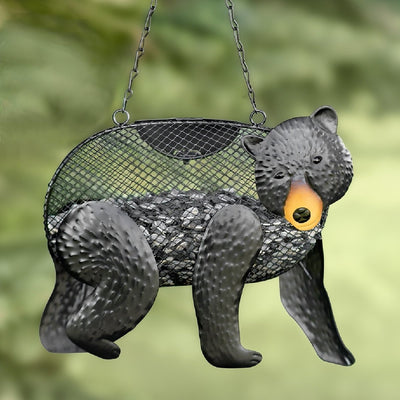 Black Bear Mesh Suet/Seed Bird Feeder