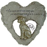 Dog Devoted Angels Memorial Stepping Stone