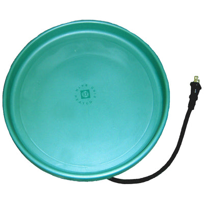 Heated Bird Bath Pan Green 14 inch