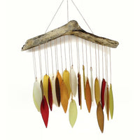 Autumn Leaves Glass Wind Chime