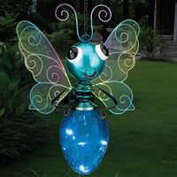 Solar Light Butterfly Lantern - Blue