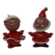 Santa Couple Marble Figurines