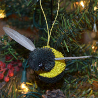 Bumble Bee Bristle Brush Ornament