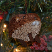 Beaver Bristle Brush Ornament Small