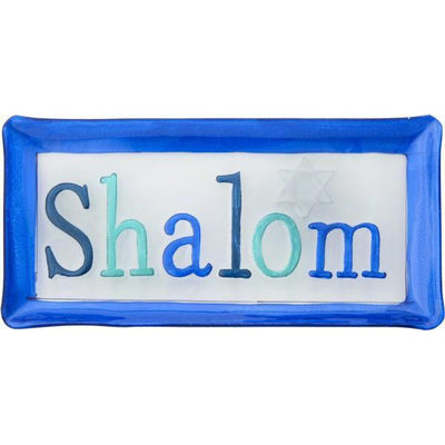 Shalom Glass Holiday Serving Platter