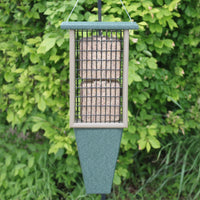 Double Suet Recycled Bird Feeder w/Tail Prop