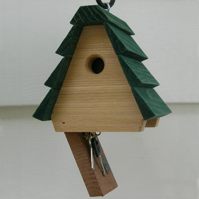 Hide-A-Key Cedar Birdhouse