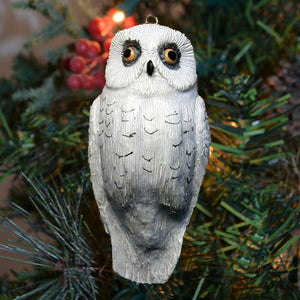 Snowy Owl Hanging Tree Ornament