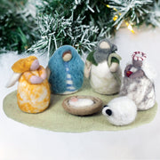 Handmade Wool Christmas Nativity