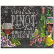 Chalkboard Wine Glass Cutting Board