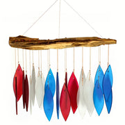 Red, White & Blue Glass Wind Chime