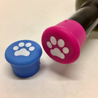 Paws (Blue & Magenta) Silicone Wine Bottle Caps