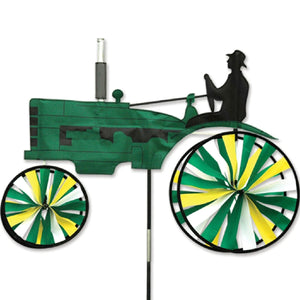 Old Green Tractor Wind Spinner 32 inch
