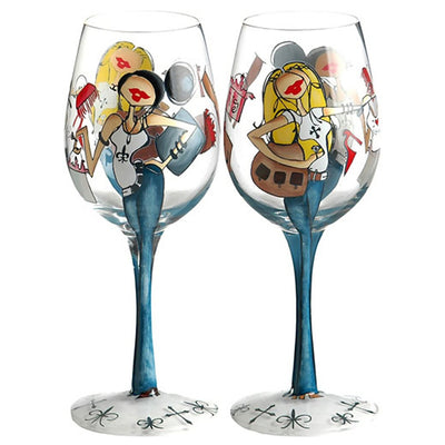 Fashionistas Wineglass