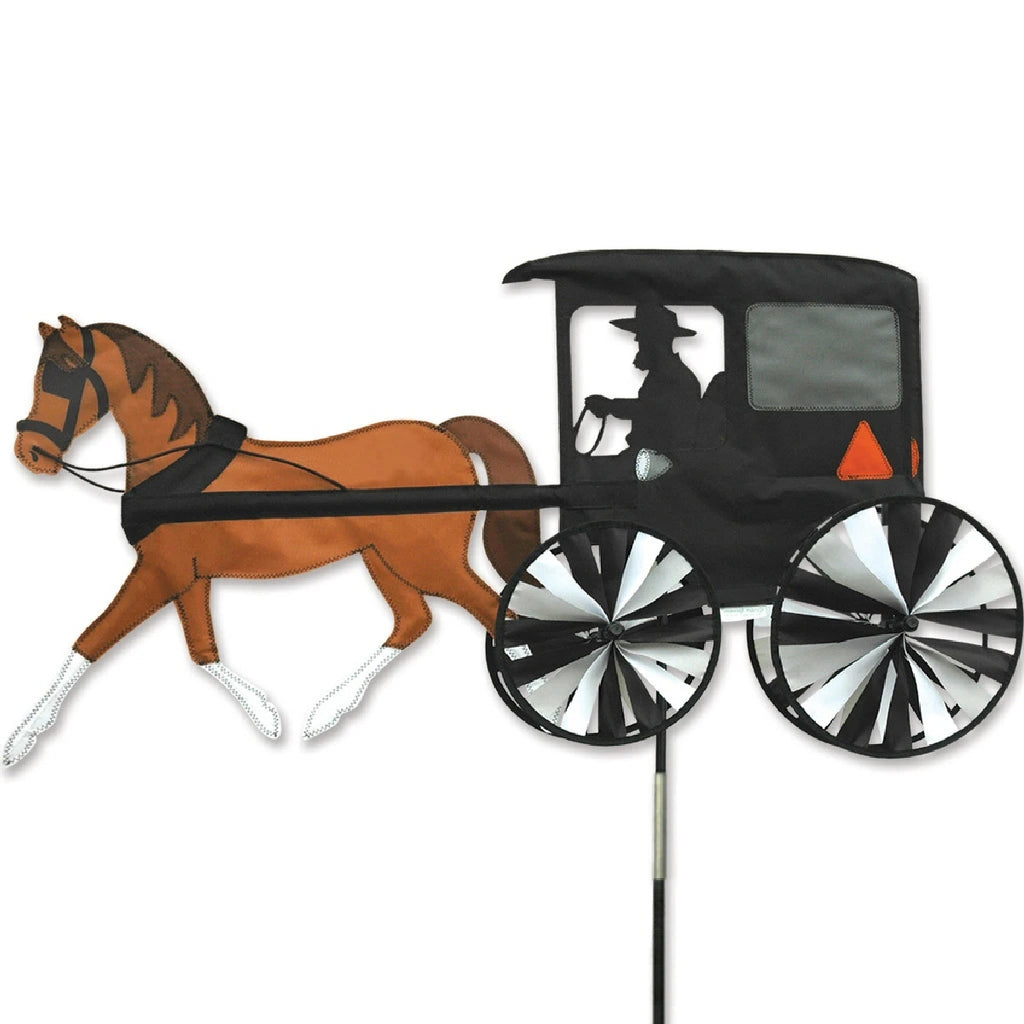 Horse & Buggy Wind Spinner 37 inch