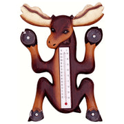 Climbing Moose Window Thermometer Small