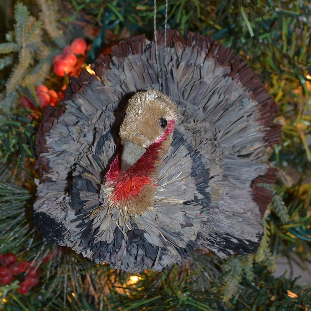 Turkey Bristle Brush Ornament