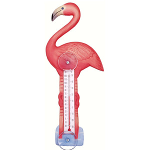 Flamingo Window Thermometer Small