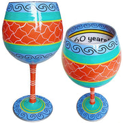 Cheers to 60 Years Wineglass Inky & Bozko