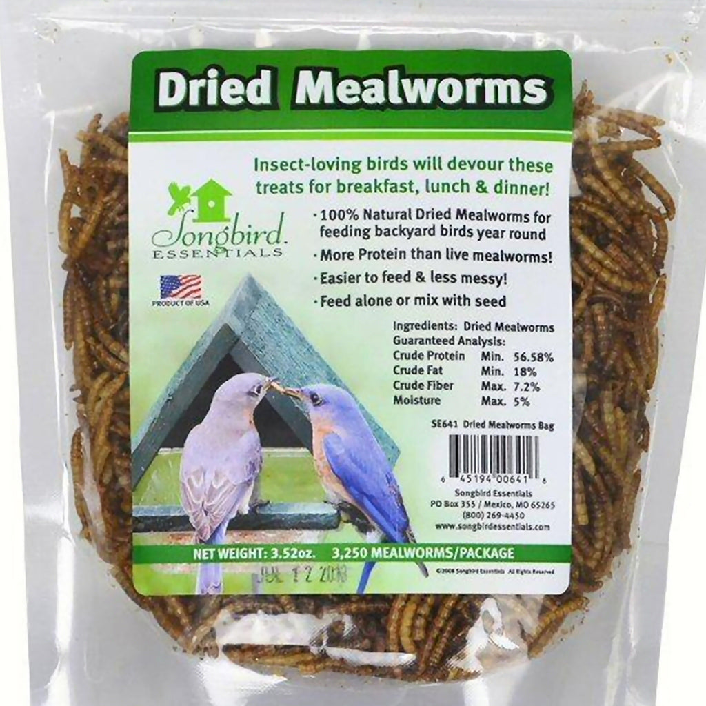 Dried Mealworms Bird Food 3.52 oz
