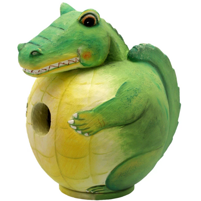 Alligator Gord-O Wooden Birdhouse
