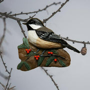Chickadee w/Holly Tree Ornament