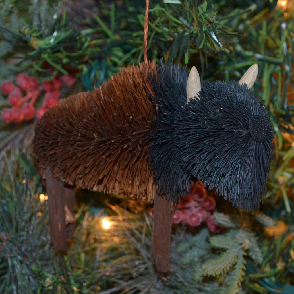 Bison Bristle Brush Ornament