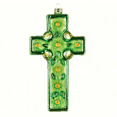Celtic Cross Glass Ornament