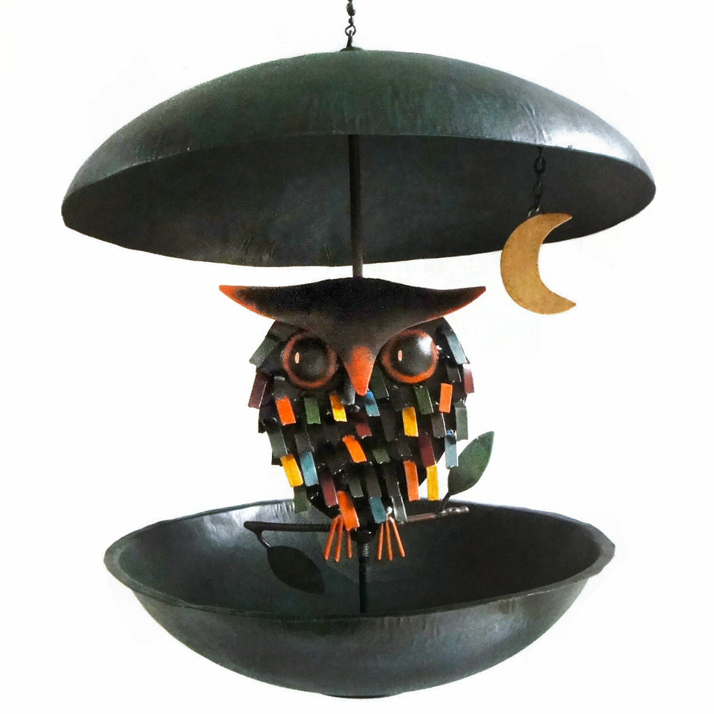 Spiky Owl Bistro Bird Feeder