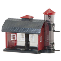 Country Barn and Silo Bird Feeder
