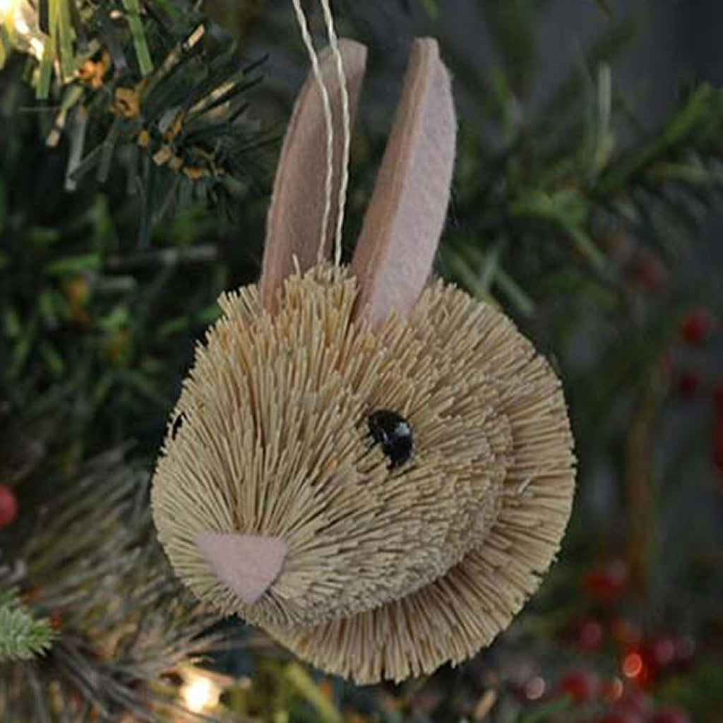 Bunny Bauble Bristle Brush Ornament