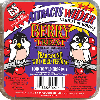 Berry Treat Suet Cake 11.75 oz - 3 pack - Momma's Home Store