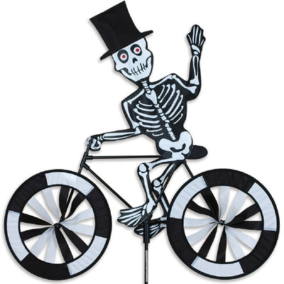 Skeleton Bicycle Wind Spinner 30 inch