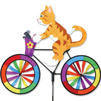 Orange Cat Bicycle Wind Spinner 30 inch