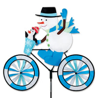 Snowman Bicycle Wind Spinner 30 inch