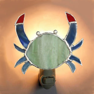 Crab Stained Glass Night Light