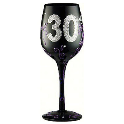 Birthday 30ish Wineglass