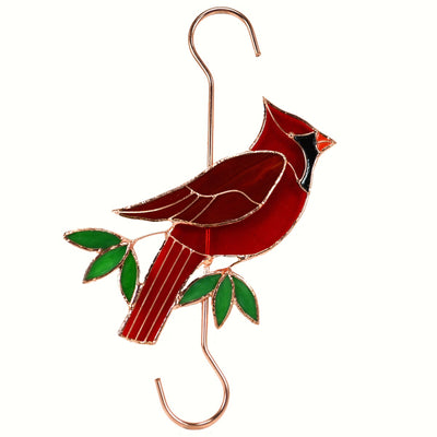 Cardinal Stained Glass Hanging Hook
