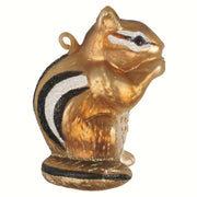 Chipmunk Friend Glass Ornament