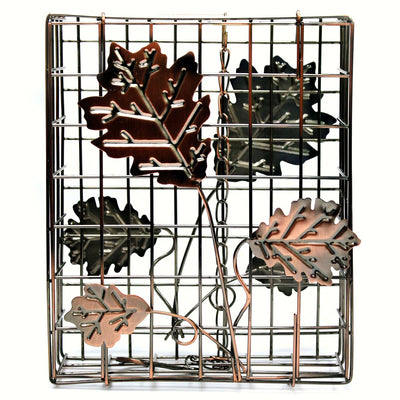 Copper Leaf Large Suet Bird Feeder