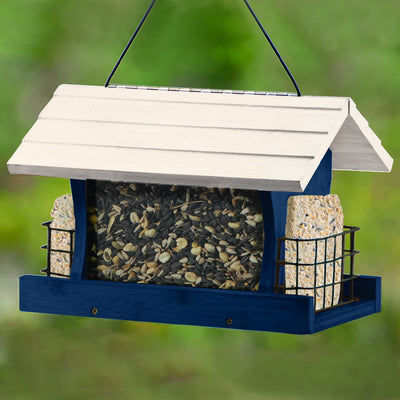 Blue Ranch Bird Feeder w/Suet Cages