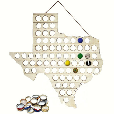 Texas Bottle Cap Map