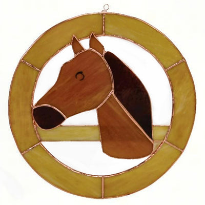 Horse Stained Glass Window Panel 8