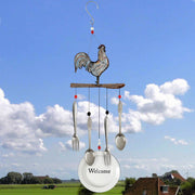 Farmhouse Rooster Welcome Wind Chime