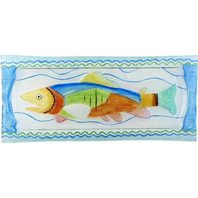 Fish Glass Serving Platter