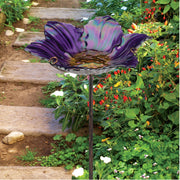 Birdbath/Bird Feeder Ground Stake - Purple