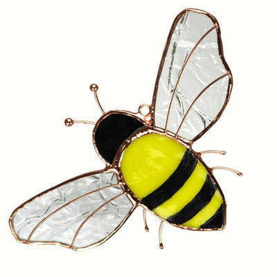 Bee Stained Glass Suncatcher
